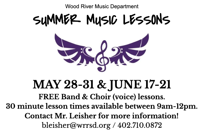 FREE Summer Music Lessons at WRRSD!
