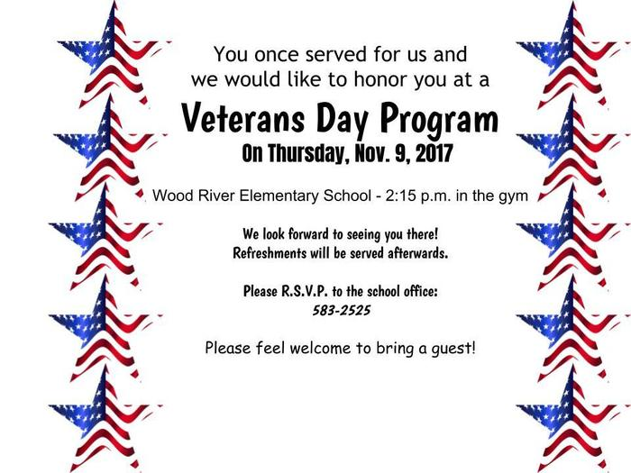 WRE Vet's Day Program