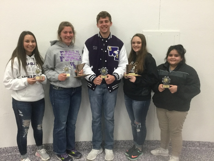Congratulations to our WRRHS Actions Day Trophy Winners: Cassidy Stutzman 5th-Nicknames, Elle Luehr 1st-Music, 4th-Vocabulary, Trey Zessin 5th-Potpourri, Abby Parlin 3rd-English 1, Dulce Garcia 4th-American Geography